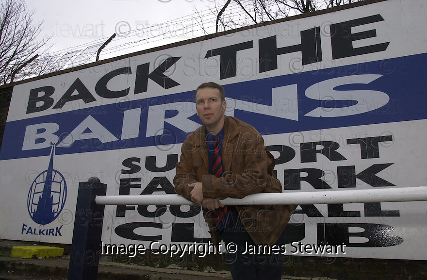 """30th November 2000     Copyright Pic : James Stewart .Ref :                           .File Name : stewart02-george craig.BACK THE BAIRNS' """"FAIR PLAY FOR FALKIRK"""" CANDIDATE, GEORGE CRAIG WHO IS TO FIGHT THE FALKIRK WEST BY-ELECTION.......Payments to :-.James Stewart Photo Agency, Stewart House, Stewart Road, Falkirk. FK2 7AS      Vat Reg No. 607 6932 25.Office : +44 (0) 1324 630007        Mobile : 07721 416997.Fax     : +44 (0) 1324 630007.E-mail : jim@jspa.co.uk.If you require further information then contact Jim Stewart on any of the numbers above........."""