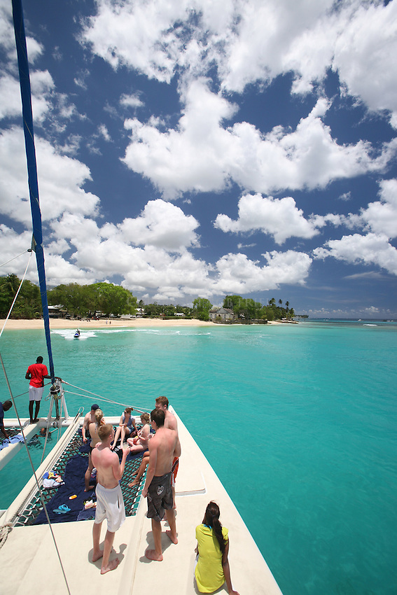 West coast catamaran cruise and snorkel trip.Tiami Cruises.Barbados.