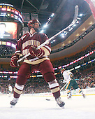 Tim Filangieri (BC - 5) - The Boston College Eagles defeated the University of Vermont Catamounts 4-0 in the Hockey East championship game on Saturday, March 22, 2008, at TD BankNorth Garden in Boston, Massachusetts.