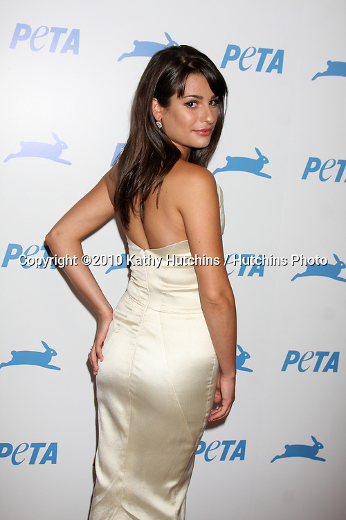 LOS ANGELES - SEP 25:  Lea Michele arrives at the PETA 30th Anniversary Gala at Hollywood Palladium on September 25, 2010 in Los Angeles, CA