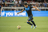 SAN JOSE,  - SEPTEMBER 1: Andy Rios #25 of the San Jose Earthquakes during a game between Orlando City SC and San Jose Earthquakes at Avaya Stadium on September 1, 2019 in San Jose, .