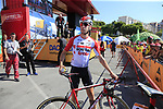 Jelle Wallays (BEL) Lotto-Soudal arrives at sign on before the start of Stage 2 of La Vuelta 2019 running 199.6km from Benidorm to Calpe, Spain. 25th August 2019.<br /> Picture: Eoin Clarke | Cyclefile<br /> <br /> All photos usage must carry mandatory copyright credit (© Cyclefile | Eoin Clarke)