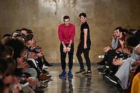 LISBOA, PORTUGAL, 11.03.2016 - MODA-PORTUGAL - Modelo durante desfile da grife David Ferreira na Lisboa Fashion Week, em Lisboa, Portugal, nessa sexta 11. (Foto: Bruno de Carvalho/Brazil Photo Press)