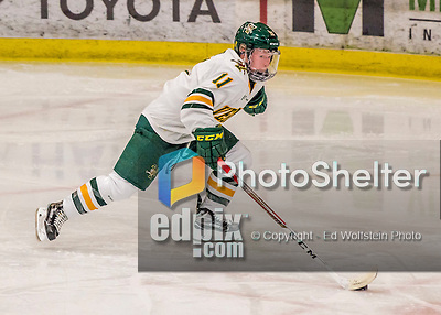 25 November 2016: University of Vermont Catamount Defender Katherine Pate, a Junior from Saco, Maine, in 3rd period action against the Saint Cloud State Huskies at Gutterson Fieldhouse in Burlington, Vermont. The Lady Cats defeated the Huskies 5-1 to take the first game of the 2016 Windjammer Classic Tournament. Mandatory Credit: Ed Wolfstein Photo *** RAW (NEF) Image File Available ***