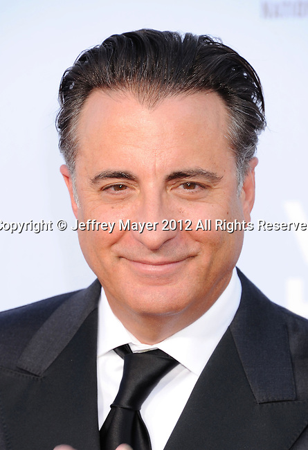 PASADENA, CA - SEPTEMBER 16: Andy Garcia  arrives at the 2012 NCLR ALMA Awards at Pasadena Civic Auditorium on September 16, 2012 in Pasadena, California.