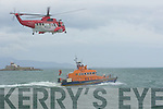 DISPLAY: The recue Helicopper and RNLI Lifboat given a display at the RNLI Regatt Day in Fenit on Sunday.