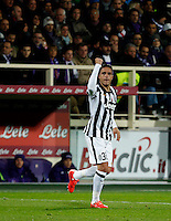 Calcio, Coppa Italia: semifinale di ritorno Fiorentina vs Juventus. Firenze, stadio Artemio Franchi, 7 aprile 2015. <br /> Juventus' Alessandro Matri celebrates after scoring during the Italian Cup semifinal second leg football match between Fiorentina and Juventus at Florence's Artemio Franchi stadium, 7 April 2015.<br /> UPDATE IMAGES PRESS/Isabella Bonotto