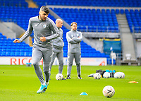 4th January 2020; Cardiff City Stadium, Cardiff, Glamorgan, Wales; English FA Cup Football, Cardiff City versus Carlisle; Callum Paterson of Cardiff City warms up before the match  - Strictly Editorial Use Only. No use with unauthorized audio, video, data, fixture lists, club/league logos or 'live' services. Online in-match use limited to 120 images, no video emulation. No use in betting, games or single club/league/player publications