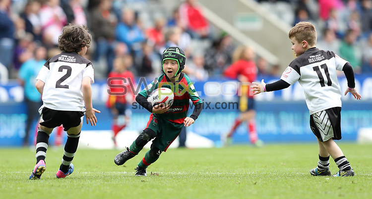 Picture by John Clifton/SWpix.com - 20/05/2017 - Rugby League - Dacia Magic Weekend- St James' Park, Newcastle, England - Kids