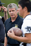 Palos Verdes, CA 11/10/11 - Coach Alex Nikolakopulos at the Peninsula-Palos Verdes varsity football game.