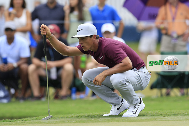 Thorbjorn Olesen (DEN) on the 10th green during Friday's Round 2 of the 2017 PGA Championship held at Quail Hollow Golf Club, Charlotte, North Carolina, USA. 11th August 2017.<br /> Picture: Eoin Clarke | Golffile<br /> <br /> <br /> All photos usage must carry mandatory copyright credit (&copy; Golffile | Eoin Clarke)