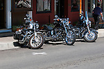 Motorcycle club in Jacksonville, Oregon for Memorial Day