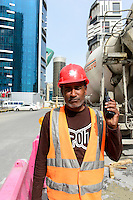 QATAR, Doha, construction boom for FIFA football world cup 2022 , the construction is done by migrant workers from all over the world / KATAR, Doha, Bauboom fuer die FIFA Fußball WM 2022/ KATAR, Doha, Bauboom fuer die FIFA Fußball WM 2022, auf den Baustellen schuften Gastarbeiter aus aller Welt
