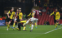 Burnley's James Tarkowski scores his side's third goal <br /> <br /> Photographer Rob Newell/CameraSport<br /> <br /> The Premier League - Watford v Burnley - Saturday 23rd November 2019 - Vicarage Road - Watford <br /> <br /> World Copyright © 2019 CameraSport. All rights reserved. 43 Linden Ave. Countesthorpe. Leicester. England. LE8 5PG - Tel: +44 (0) 116 277 4147 - admin@camerasport.com - www.camerasport.com