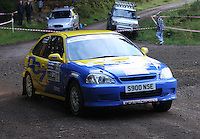 Duncan Campbell / Gavin Chisholm at Junction 6, on Special Stage 1 Craigvinean in the Colin McRae Forest Stages Rally 2012, Round 8 of the RAC MSA Scotish Rally Championship which was organised by Coltness Car Club and based in Aberfeldy on 5.10.12.