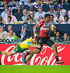 Japan play Brazil on Day 1 of the Cathay Pacific / HSBC Hong Kong Sevens 2013 at Hong Kong Stadium, Hong Kong. Photo by Victor Fraile / The Power of Sport Images