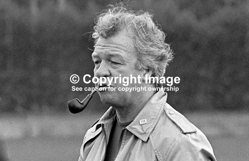 Billy Bingham, manager, N Ireland soccer team, 198011000366a..Copyright Image from Victor Patterson, 54 Dorchester Park, Belfast, UK, BT9 6RJ..Tel: +44 28 9066 1296.Mob: +44 7802 353836.Voicemail +44 20 8816 7153.Skype: victorpattersonbelfast.Email: victorpatterson@mac.com.Email: victorpatterson@ireland.com (back-up)..IMPORTANT: If you wish to use this image or any other of my images please go to www.victorpatterson.com and click on the Terms & Conditions. Then contact me by email or phone with the reference number(s) of the image(s) concerned.