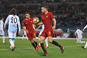 1st December 2017, Stadio Olimpico, Rome, Italy; Serie A football. AS Roma versus Spal;  Goal celebrations by Kevin Strootman Roma