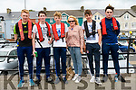 Fionn Ó Cuileannain, Tomas Fitzpatrick, Eoin Lyne, Maria Lyne, Eugene Lyne and William Murphy (from Brandon) at the Dingle regatta on Saturday afternoon.