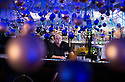 04/12/14<br /> <br /> Landlord and pub owner, Mark Thomas, 41, in the bar.<br /> <br /> The Hanging Gate pub in Chapel en le Frith, in the Derbyshire Peak District claims to have the largest display  of Christmas decorations inside its bar and restaurants. <br /> <br /> Full story here: http://www.fstoppress.com/articles/christmas-pub/<br /> <br /> ***ANY UK EDITORIAL PRINT USE WILL ATTRACT A MINIMUM FEE OF £130. THIS IS STRICTLY A MINIMUM. USUAL SPACE-RATES WILL APPLY TO IMAGES THAT WOULD NORMALLY ATTRACT A HIGHER FEE . PRICE FOR WEB USE WILL BE NEGOTIATED SEPARATELY***<br /> <br /> <br /> All Rights Reserved - F Stop Press. www.fstoppress.com. Tel: +44 (0)1335 300098
