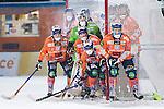 Bolln&auml;s 2016-01-09 Bandy Elitserien Bolln&auml;s GIF - V&auml;ster&aring;s SK :  <br /> Bolln&auml;s Per Hellmyrs , m&aring;lvakt Niklas Prytz , Andreas Westh ,  Anders Spinnars och Jens Wiik  p&aring; en h&ouml;rna <br /> (Foto: Kenta J&ouml;nsson) Nyckelord:  Bolln&auml;s GIF BGIF Giffarna S&auml;vsta&aring;s V&auml;ster&aring;s VSK