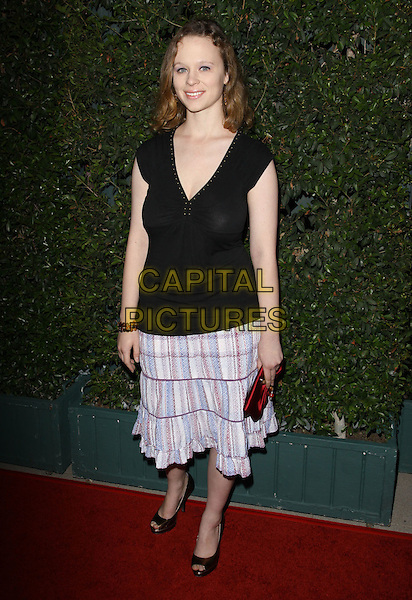 "THORA BIRCH.""Capitalism: A Love Story"" Los Angeles Premiere held At AMPAS Samuel Goldwyn Theater, Beverly Hills, California, USA..September 15th, 2009.full length black v-neck top skirt blue purple white .CAP/ADM/KB.©Kevan Brooks/AdMedia/Capital Pictures."