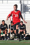 Palos Verdes, CA 02/03/12 - Charles Keating (Palos Verdes #23) in action during the Peninsula vs Palos Verdes boys varsity soccer game.