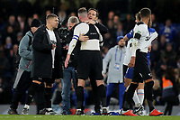 Derby County Manager, Frank Lampard, embrace his captain, Richard Keogh, at the final whistle during Chelsea vs Derby County, Caraboa Cup Football at Stamford Bridge on 31st October 2018