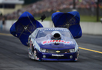 Oct. 6, 2012; Mohnton, PA, USA: NHRA pro stock driver Jason Line during qualifying for the Auto Plus Nationals at Maple Grove Raceway. Mandatory Credit: Mark J. Rebilas-