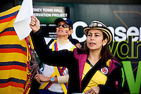 Colombian community protest, Sydney Town Hall 05.07.14