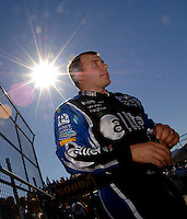 Nov 12, 2005; Phoenix, Ariz, USA;  Nascar Nextel Cup driver Ryan Newman walks to the grid prior to qualifying for the Checker Auto Parts 500 at Phoenix International Raceway. Mandatory Credit: Photo By Mark J. Rebilas