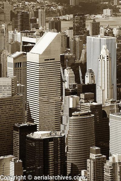 aerial photograph Citigroup Center, skyscrapers, Manhattan, New York City