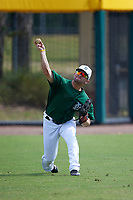 Dartmouth Big Green outfielder Hayden Rappoport (20) during practice before a game against the South Florida Bulls on March 27, 2016 at USF Baseball Stadium in Tampa, Florida.  South Florida defeated Dartmouth 4-0.  (Mike Janes/Four Seam Images)