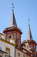 Two bell towers in Seville, Spain