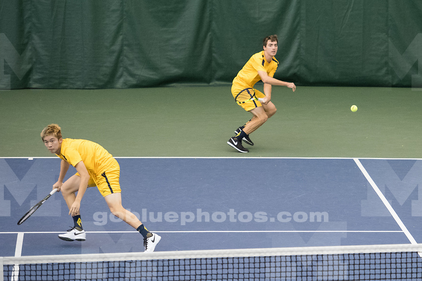 Michigan Men's Tennis falls to Ohio State, 4-1, at the Varsity Tennis Center in Ann Arbor, MI on March 26, 2017.
