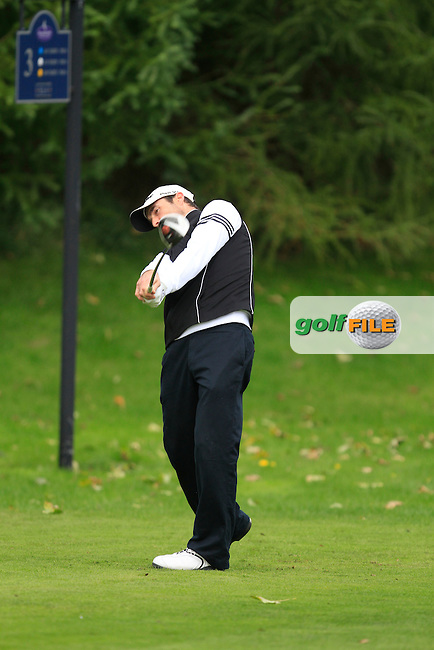 Philip Ring (Elmgreen Golf Centre) on the 3rd tee during Round 2 of The Cassidy Golf 103rd Irish PGA Championship in Roganstown Golf Club on Friday 11th October 2013.<br /> Picture:  Thos Caffrey / www.golffile.ie
