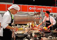 Wedstrijd voor koks tijdens het Skillsmasters  event in Ahoy