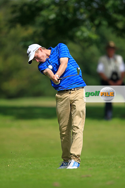 Jack Johnston (Clandeboye) on the 11th tee during the Irish Boys Under 15 Amateur Open Championship Round 2 at the West Waterford Golf Club on Wednesday 21st August 2013 <br /> Picture:  Thos Caffrey/ www.golffile.ie