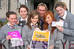 CHALLENGE: Students from Intermediate School, Killorglin who are participating in the AIB Build a Bank challenge in the school l-r: Cara Teahan, Katie O'Sullivan, Joanne O'Sullivan, Cormac Foley (AIB Student Officer), Erika Fox and Joanne O'Riordain.   Copyright Kerry's Eye 2008