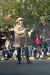 WY: Wyoming, Cody: Buffalo Bill impersonator in shootout with villains...Photo #: yellow529..Photo copyright Lee Foster, 510/549-2202, lee@fostertravel.com, www.fostertravel.com..
