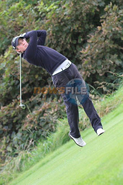 Day one of the Irish PGA championship at Seapoint Golf Club,.Darren McWilliams playing the first..Picture Fran Caffrey/www.golffile.ie.