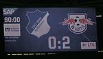Das Endergebnis auf der Anzeigentafel<br /> <br /> Sport: Fussball: LIGA: Saison 19/20: TSG 1899 <br /> Hoffenheim-RB Leipzig, 12.06.2020.<br /> <br /> Foto: RALF POLLER/AVANTI/POOL/PIX-Sportfotos<br /> <br /> Nur für journalistische Zwecke! Only for editorial use! <br /> Gemäß den Vorgaben der DFL Deutsche Fußball Liga ist es untersagt, in dem Stadion und/oder vom Spiel angefertigte Fotoaufnahmen in Form von Sequenzbildern und/oder videoähnlichen Fotostrecken zu verwerten bzw. verwerten zu lassen. DFL regulations prohibit any use of photographs as image sequences and/or quasi-video.