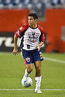 Atlante FC defender Arturo Munoz (15). The New England Revolution defeated Atlante FC 1-0 during a SuperLiga semifinal match at Gillette Stadium in Foxborough, MA, on July 30, 2008.
