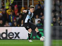 4th February 2020; Kassam Stadium, Oxford, Oxfordshire, England; English FA Cup Football; Oxford United versus Newcastle United; Matt Ritchie of Newcastle crosses the ball towards goal