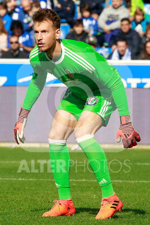 Valencia CF's Neto Murara during La Liga match. October 28,2017. (ALTERPHOTOS/Acero)