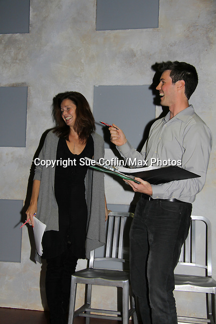 "One Life To Live's Florencia Lozano ""Tea Delgado with Jonathan Pereira (director and host)  in ""Verbatim Verboten - NYC"" on October 18, 2010 at the WorkShop Theater, NYC. (Photo by Sue Coflin/Max Photos)"