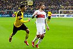 09.03.2019, Signal Iduna Park, Dortmund, GER, 1.FBL, Borussia Dortmund vs VfB Stuttgart, DFL REGULATIONS PROHIBIT ANY USE OF PHOTOGRAPHS AS IMAGE SEQUENCES AND/OR QUASI-VIDEO<br /> <br /> im Bild   picture shows:<br /> Achraf Hakimi (Borussia Dortmund #5) gegen Alexander Esswein (VfB Stuttgart #14), <br /> <br /> Foto &copy; nordphoto / Rauch