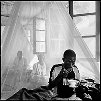 Kuito, Angola, May, 22, 2006.Fancisco, 36, suffers from Tuberculosis and is a patient in Bié Province Hospital. TB is endemic in the region, fueled by poverty, malnutrition, inadequate hygiene and the rapid spreading of HIV/AIDS since the end of the civil war in 2002.