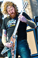 Mastodon playing at the 2011 Voodoo Festival in New Orleans, LA.