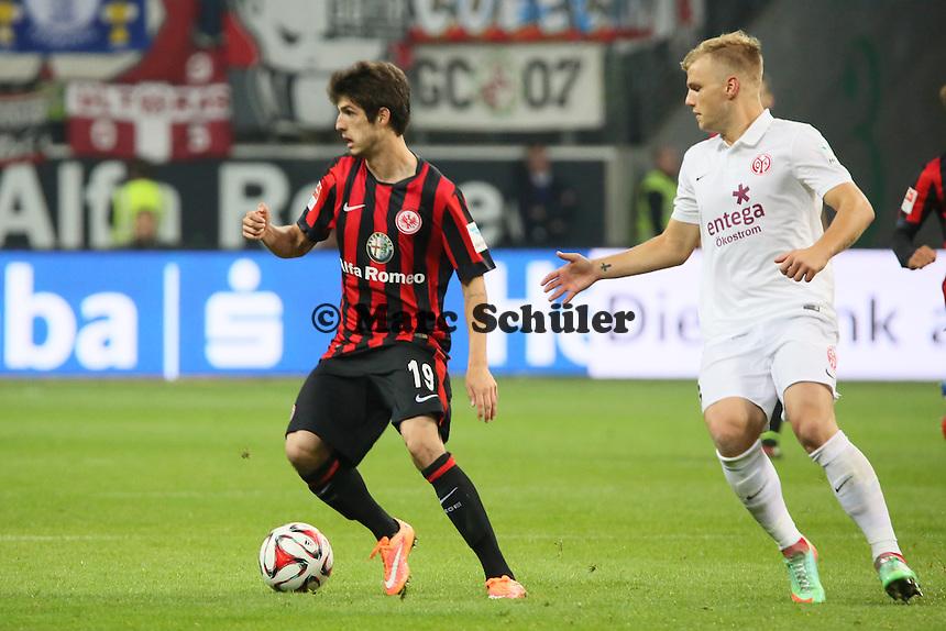Lucas Piazon (Eintracht) gegen Johannes Geis (Mainz) - Eintracht Frankfurt vs. 1. FSV Mainz 05, Commerzbank Arena